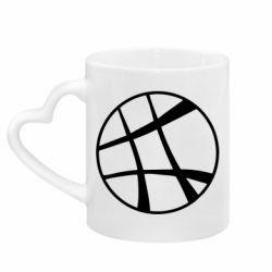 Кружка с ручкой в виде сердца Strange Logo