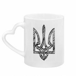 Кружка с ручкой в виде сердца Striped coat of arms