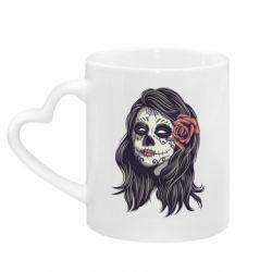 Кружка з ручкою у вигляді серця Sugar girl with a rose