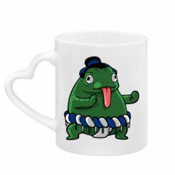 Кружка с ручкой в виде сердца Sumo toad