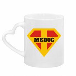 Кружка з ручкою у вигляді серця Super Medic