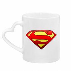 Кружка с ручкой в виде сердца Superman Logo