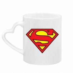 Кружка с ручкой в виде сердца Superman Symbol