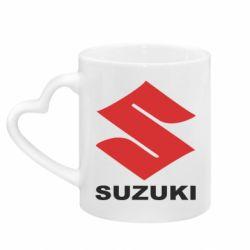 Кружка с ручкой в виде сердца Suzuki