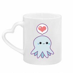 Кружка с ручкой в виде сердца Sweet Octopus
