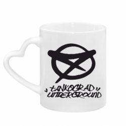 Кружка с ручкой в виде сердца Tankograd Underground Logo