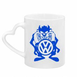 Кружка с ручкой в виде сердца Тасманский дьявол Volkswagen