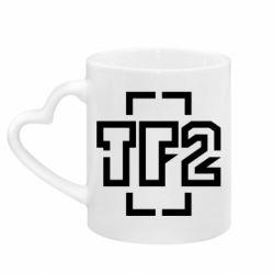 Кружка с ручкой в виде сердца Team Fortress 2 logo