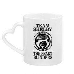 Кружка з ручкою у вигляді серця Team Shelby the Peaky Blinders