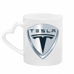 Кружка с ручкой в виде сердца Tesla Corp