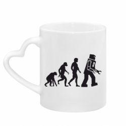 Кружка с ручкой в виде сердца The Bing Bang theory Evolution
