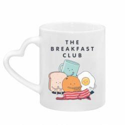 Кружка з ручкою у вигляді серця The breakfast club