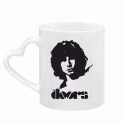 Кружка с ручкой в виде сердца The Doors