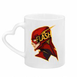Кружка з ручкою у вигляді серця The Flash