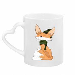 Кружка з ручкою у вигляді серця The Fox in the Hat