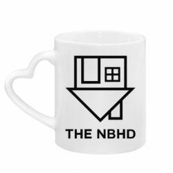 Кружка с ручкой в виде сердца THE NBHD Logo