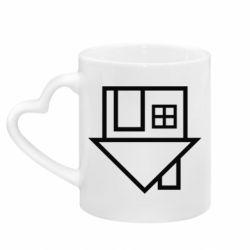Кружка с ручкой в виде сердца The Neighbourhood Logotype