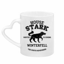 Кружка с ручкой в виде сердца The North Remembers - House Stark