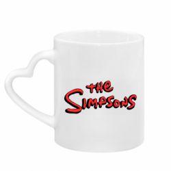 Кружка з ручкою у вигляді серця The Simpson Logo