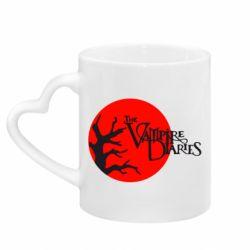 Кружка с ручкой в виде сердца The Vampire Diaries