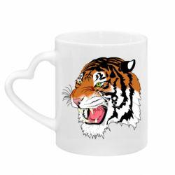 Кружка з ручкою у вигляді серця Tiger roars