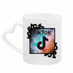Кружка з ручкою у вигляді серця Tik Tok art