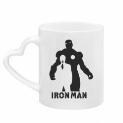 Кружка с ручкой в виде сердца Tony iron man