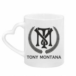 Кружка з ручкою у вигляді серця Tony Montana Logo