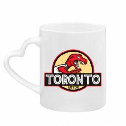 Кружка с ручкой в виде сердца Toronto raptors park