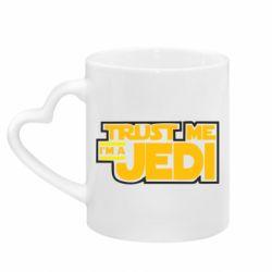 Кружка с ручкой в виде сердца Trust me, I'm a Jedi