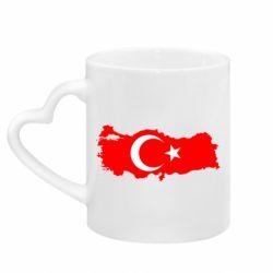 Кружка с ручкой в виде сердца Turkey