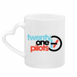 Кружка з ручкою у вигляді серця Twenty One Pilots Logo