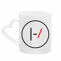 Кружка с ручкой в виде сердца Twenty One Pilots Logotype