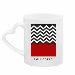 Кружка с ручкой в виде сердца Twin pix poster