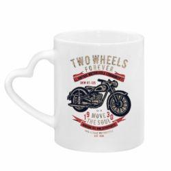Кружка з ручкою у вигляді серця Two Wheels Forever 1930