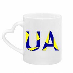 Кружка с ручкой в виде сердца UA Ukraine
