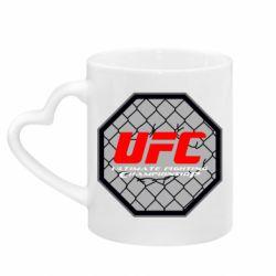 Кружка с ручкой в виде сердца UFC Cage