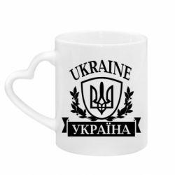 Кружка с ручкой в виде сердца Україна ненька