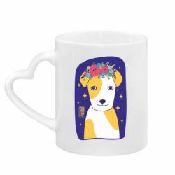 Кружка з ручкою у вигляді серця Український пес