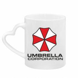 Кружка с ручкой в виде сердца Umbrella