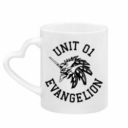 Кружка з ручкою у вигляді серця Unit 01 evangelion