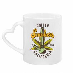 Кружка з ручкою у вигляді серця United smokers st relax California