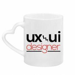 Кружка з ручкою у вигляді серця UX UI Designer