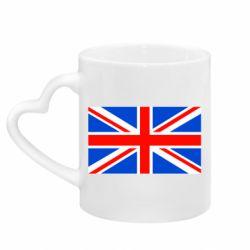Кружка с ручкой в виде сердца Великобритания