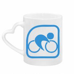 Кружка с ручкой в виде сердца Велоспорт
