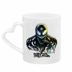 Кружка с ручкой в виде сердца Venom Bust Art