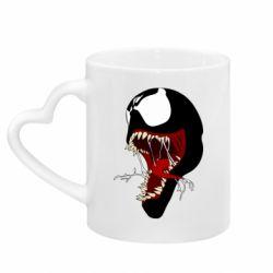 Кружка з ручкою у вигляді серця Venom jaw