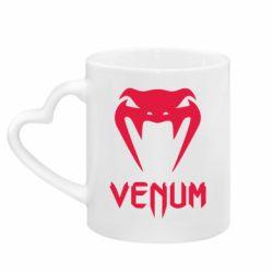 Кружка с ручкой в виде сердца Venum2