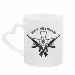 Кружка з ручкою у вигляді серця Veteran machine gun