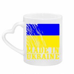 Кружка з ручкою у вигляді серця Виготовлено в Україні